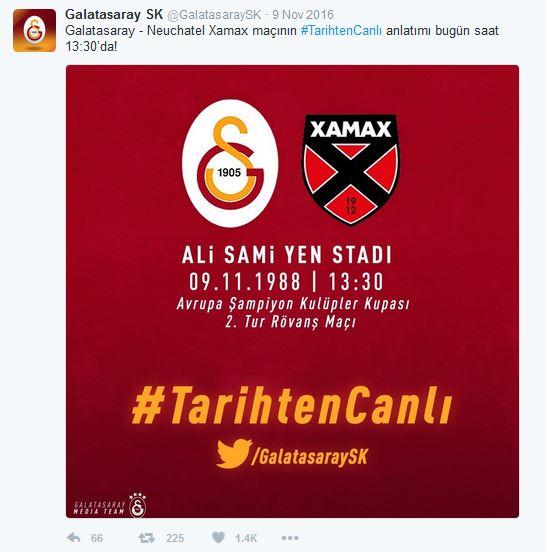 Galatasaray ile TarihtenCanlı 4.4 milyon etkileşim aldı