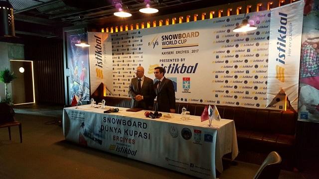 Kayseri Erciyes A.Ş. ile İstikbal arasında Dünya Snowboard Kupası için Ana Sponsorluk protokolü imzalandı.
