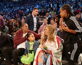 Beyonce ve Jay-Z, NBA All – Star 2017 maçındaydı