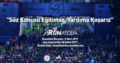 Darüşşafakalı öğrenciler için Runatolia Maratonu'na